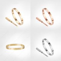 Pulsera de tornillo de amor 5.0 Diseñador Classic Mens Gold Bracelet 2020 Joyas de lujo Mujeres de titanio Acero Goldado NUNCA se desvanece, no alérgico -g