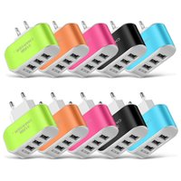 3 Ports USB Charger Adapter Travel Wall Chargers 5V 3.1A with LED Light Power for iPhone Samsung iPad Huawei Xiaomi
