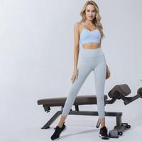Esportes sutiã e leggings desgaste ativo mulheres workout fitness colheita superior cintura alta cintura calças ginásio tracksuit sexy sem costura yoga set