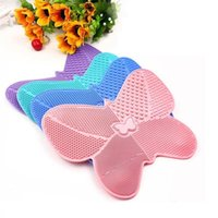Makeup Brushes Silicone Brush Cleaning Pad Mat Washing Tools Cosmetic Eyebrow Cleaner Tool Scrubber Board Drop