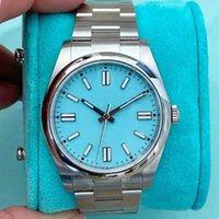 2021 Hommes Mens Rose Gold Daydate 2 Glafe Out Bleu Montres Automatiques Mouvement Mécanique Mouvement Ifedout Diamond Watch Sapphire Deux-Tons MasterMontre de luxe montre-bracelet