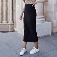 Skirts High Waist Midi Skirt Women Elasticity Pencil 2021 Spring Autumn Clothes Black Sexy Skinny Long Harajuku