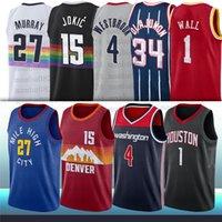 15 Nikola 27 Jamal Jokic Murray 1 John Russell Duvar 4 Westbrook Şehir Erkekler NCAA Basketbol Formaları