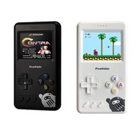 Portable Game Players Powkiddy Pocket Console Mini Retro Handheld 10000Mah 8-Bit Nostalgic Fc Power Bank Built-In 500 Tv Video