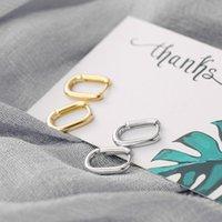 Canner Oval Golsssy Huggies Ohrring für Frauen Pendientes Plata 925 Piercing 925 Sterling Silber Hoop Ohrring Suporrt Großhandel