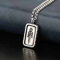 Design Pendant Luxury Necklace Fashion Jewelry 925 Sterling Silver Rotary Cross Sword Print Double-sided Round Brand T-shirt Chainsetter Men and