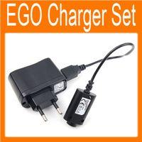 Conjunto de cargadores de cigarrillos electrónicos Cable USB US / EU / AU Adaptador de pared para EGO-CE4 / T / K / W