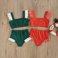 Clothing Sets 1-6Y Toddler Kids Baby Girl Swimwear Swimming Two-Pieces Swimsuit Active Beachwear Bathing Suit