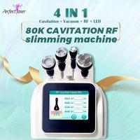 High quality 80K ultrasonic cavitation machine slimming RF skin lifting Radio Frequency vacuum slim 8 inch big screen multi 4 in 1 device