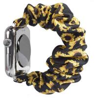 New Woman Personalizzato Stampa Crunchies Elastic Scrollies Nylon Gambo cinturino per orologio Apple