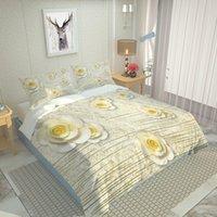 Set di biancheria da letto Red 4pcs Duvet Cover Set Federa Biancheria bianca Set di biancheria da letto 4pcs Set di biancheria da letto