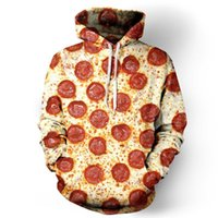 Neue Harajuku Mode Lässig Sweatshirts Unisex 3D Sweatshirt Käse Wurst Pizza Hoodies Pullovers Grafische Sweatshirts Drop Shipping