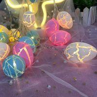 Forma de ovo de Páscoa LED Decorativo Pendurado Enfeites de Luz Feliz Páscoa LED Light Lanterna String Festa de férias