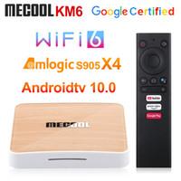 MeCool KM6 ديلوكس ATV Amlogic S905x4 الذكية الروبوت 10.0 TV Box 4GB RAM 64GB ROM 2.4 / 5G WIFI BT 4K Android 10 Set Top Box