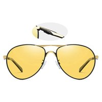 BIKIGHT Color Changing Night Vision Piece Day and Night Polarized Sunglasses Anti-slip Solid Outdoor Travel Cycling For Men
