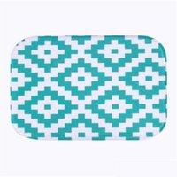 Großhandel - einfaches design 2016 mikrofaser chenille bade matte teppich boden teppiche teppiche horizontale streifen teppich für badr jlldai warmslove
