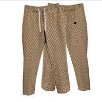 21SS Hombres Mujeres Diseñador Jacquard Pantalones Primavera Verano Hombres Denim Pant Doble Letra Casual Letras Pantalones Alta Calidad Amarillo