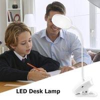 Ajustável USB Carregamento Portátil Leitura Luzes Dobrável Touch Dimming Lâmpada Portátil 3 Modos LED Secretária Lâmpada