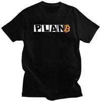 Men's T-Shirts Plan B Time For Men T Shirt Soft Cotton Tee Tops BTC Crypto Currency Tshirt Short-Sleeve Novelty T-shirt Merch