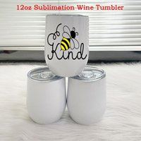 Water Bottles 12oz Sublimation Wine Tumbler Egg Shaped Beer Cups Double Walled Stainless Steel Coffee Mugs Insulated Cup For Wedding Party