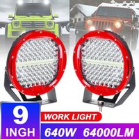 640W 9inch Runde 12V LED-Fahrarbeit Licht für 4x4 Offroad-Lkw-Boot 4WD SUV ATV-Auto 12V 24V Außenleuchten freie Abdeckung