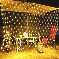 LED Mesh String Cadeia de Fada Corrente de Luz Corrente De Casamento Decoração Jardim Lâmpada, Luzes Fadas Net Garland Slingers String