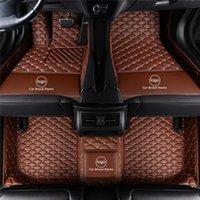 Material amigable de la alfombra de la alfombra de la alfombra de la alfombra de la alfombra de la alfombra de cuero impermeable específico para el modelo de un modelo de automóvil y hacer capas individuales completamente marrón 01