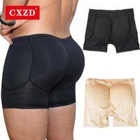 Мужские формирователи тела CXZD мужские сексуальные формированные трусики Bulifter HIP PAD поддельные задницы пены мягкие трусы мужчины Shapeepear Бесшовные дна