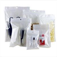 Clear + White Smell Proof Mylar Plastic Zip Lock Bags Runtz Packaging OPP Bulk Gift Packages PVC Bag Self Sealing Baggies L Sizes