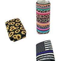 Party Favor Neoprene Can Tall Holder Foldable Stubby Holders Cooler Bags Fits 12oz Slim Energy Drink & Beer 2 M5Q0
