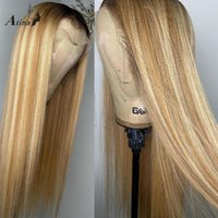 HD Destaque Transparente 613 Cor Loira Perucas de Cabelo Humano Straight para Mulheres Negras Brasileiras Full Remy Preenched Wigs