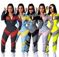 Vêtements pour femmes Deux pièces Ensembles 2 pièces Set Femme Sweat Cuisson Plus Taille Sport Jogging Stand Soft Longue Tracksuit Sportswear S-2XL