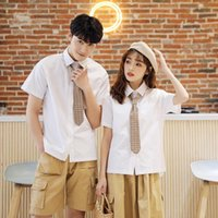 Women's Blouses & Shirts Couple's Short-Sleeved Shirt 2021 Summer Style Non-Mainstream Design Student Business Attire Fashion