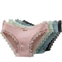 Frauen höschen frauen nahtlose unterwäsche massiv farbe bowknot baumwolle slip frau komfortable unsichtbare g string tangs sexy lingerie