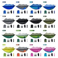 Mosquito Net Hammock 16 Colors 260*140cm Outdoor Parachute Cloth Field Camping Tent Garden Camping Swing Hanging Bed OWD10064