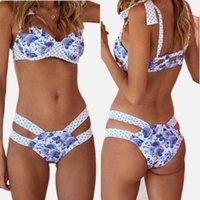 Tek Parça Takım Elbise 2021 Seksi Bikini Set Kadın Mayo Sporlike Nokta Ve Baskı Push Up Mayo İki Parçalı Mayo Brezilyalı Kadın Beachwea