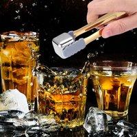 Silicone de aço inoxidável tenazes de gelo cozinha ferramentas de cozinha com borda lisa açúcar de café Multifunction Mini Cube Cubo Clip clip clipes 20 R2