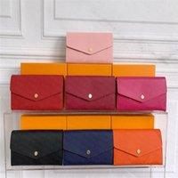 Bolsa de couro da marca de luxo da marca de luxo com suporte do cartão do zíper com edição do bolso do teste padrão floral com caso
