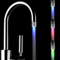 Светодиодный кран огни атмосферные огни меняют цвет в соответствии с температурой воды 3 цвета без необходимости аккумулятора