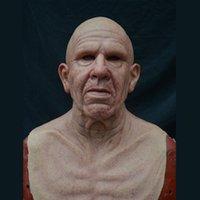 Máscaras de fiesta Peluca Old Hombre Mascarilla Halloween Látex FULL FUERA DE ARTISIÓN HORROR PARA EL JUEGO COSPLAY PROPS PROMS 2021