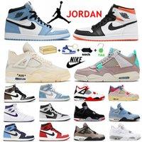 طيران الأردن 1 1S أحذية كرة السلة الأزرق الأزرق الأردن 4S الصحراء الطحلب أسود القط الظل 2.0 Hyper Royal عما أسمنت الأسمنت الأبيض