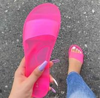 Slippers Women 2021 Summer Woman Jelly Shoes Candy colors PV...