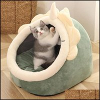 Cat Supplies Home Gardencat Beds & Furniture Bed Warm Pet Basket Cozy Kitten Lounger Cushion House Tent Very Soft Small Dog Mat Bag For Wash