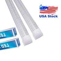 T8 Integrated Double Row Led Tube 4Ft 36W 50W 8Ft 72W 100W 144W SMD2835 Lamp Bulb 4 8 Foot Lighting Fluorescent USALIGHT