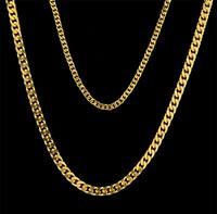 Erkekler Kadınlar 18 K Altın Kaplama 3mm 5mm Mini Küba Zincir Stainess Çelik Küba Zincir Altın Gümüş Küba Zincir Kolye Moda Takı Whosales
