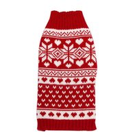 Dog Apparel Winter Warm Sweater Snowflake Pet Coat Red Christmas Clothes Santa Claus Costume Outwear For