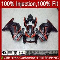 Injection pour Kawasaki Ninja ZX250R EX250 Matte Red Blk 2008 2009 2011 2012 2012 13HC.83 EX250R ZX-250R ZX250 ZX 250R 08 09 10 11 12 Catériel