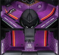 Özel Fit Araba Paspas Halı Spesifik Su Geçirmez Deri Eko Dostu Malzeme Araba Modeli için Ve Çift Katmanlar Tam Purple01