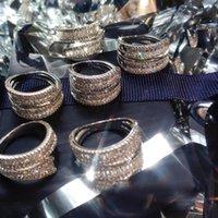 الهيب هوب نمط المجوهرات الصلبة 14 كيلو الذهب الأبيض الدائري للنساء النقي الطبيعي 2 ثانية الماس الأحجار الكريمة تمهيد إعداد anillos دي خواتم