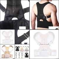 Chair Ers Sashes Textiles Home & Gardensashes S-Xxl Male Female Adjustable Magnetic Posture Corrector Corset Back Brace Belt Lumbar Support